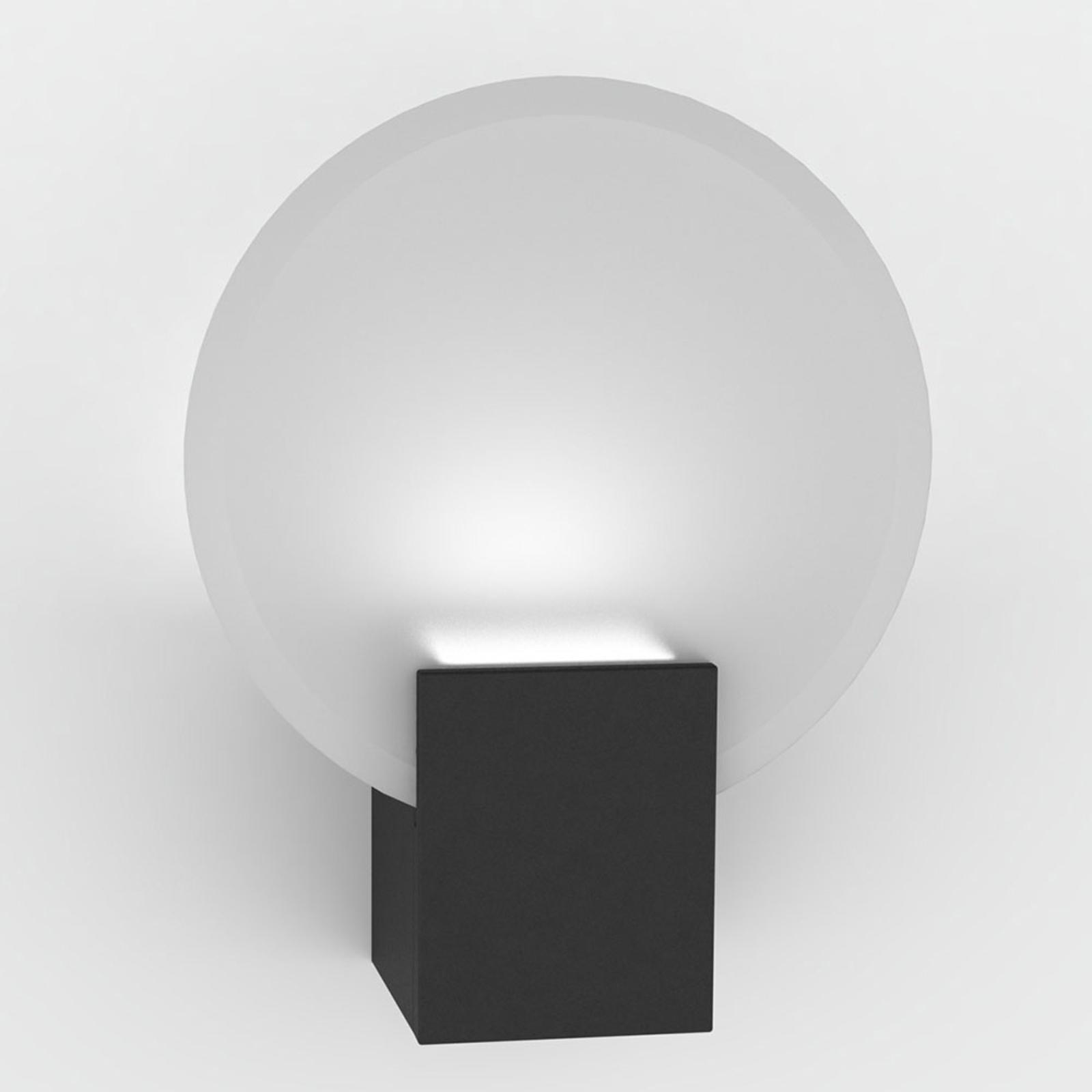 LED wandlamp Hester, IP44, zwart