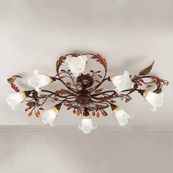 Lámpara de techo Zarah florentina con 8 brazos