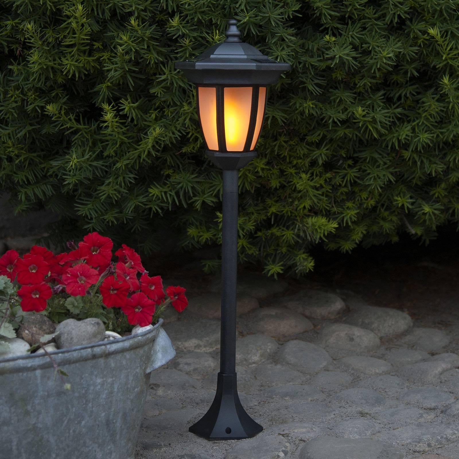LED-Solarleuchte Flame, 4 in 1, schwarz