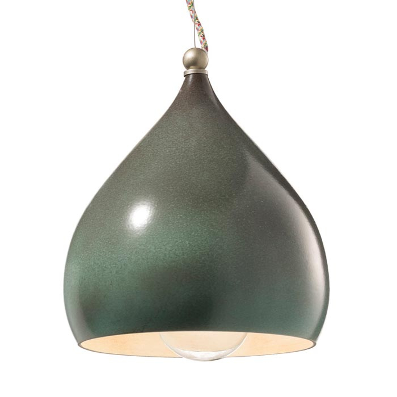 Lampa wisząca Federico z ceramiki, zielona