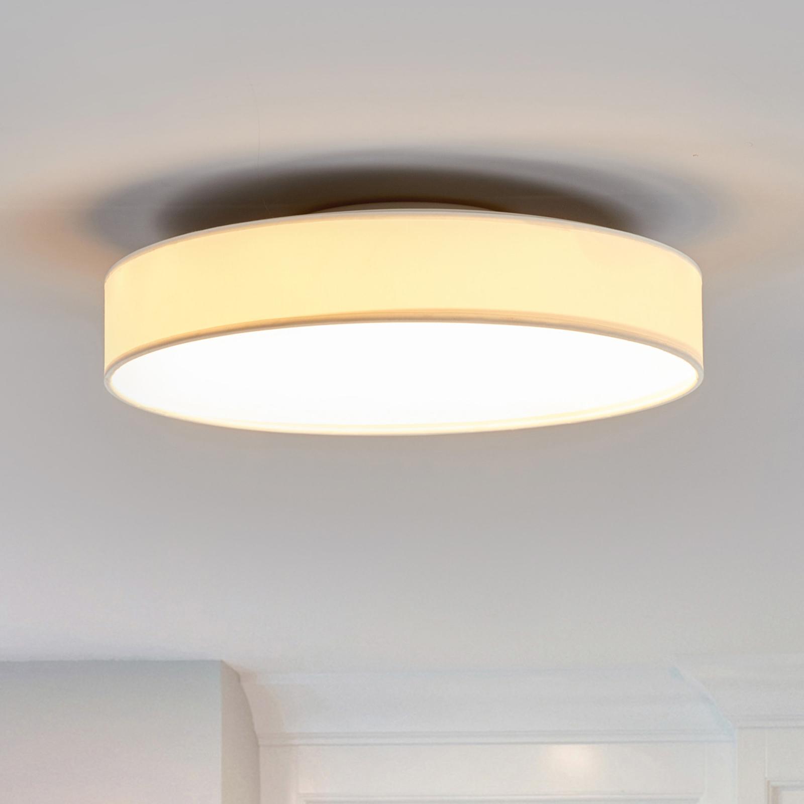 Plafonnier en tissu LED Saira, 40cm, blanc