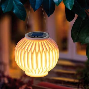 LED-soldekorationslampa Ibiza, sandstensoptik