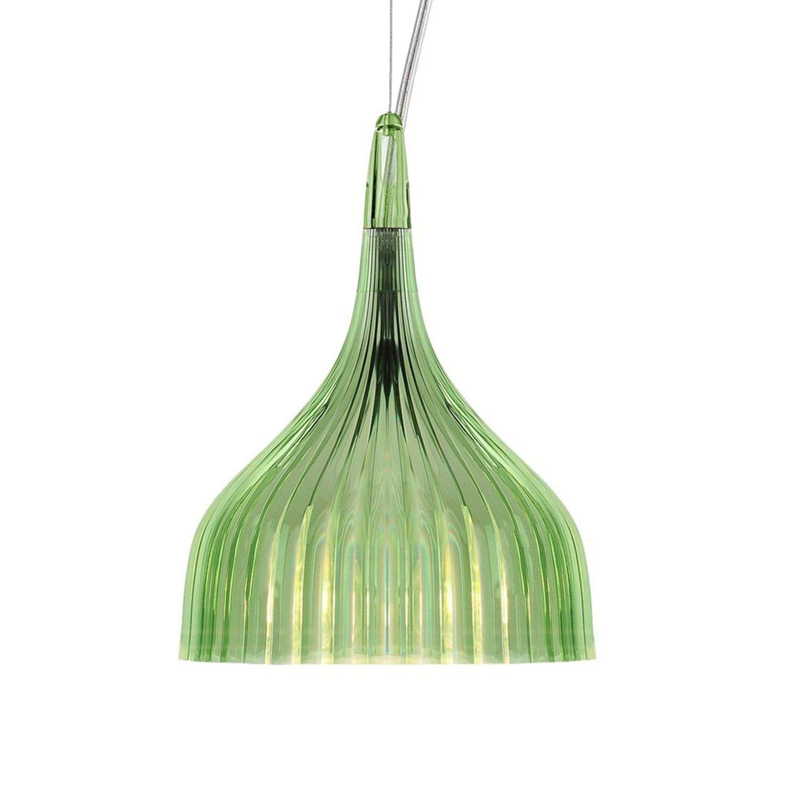 Kartell É - lampa wisząca z LED, zielona