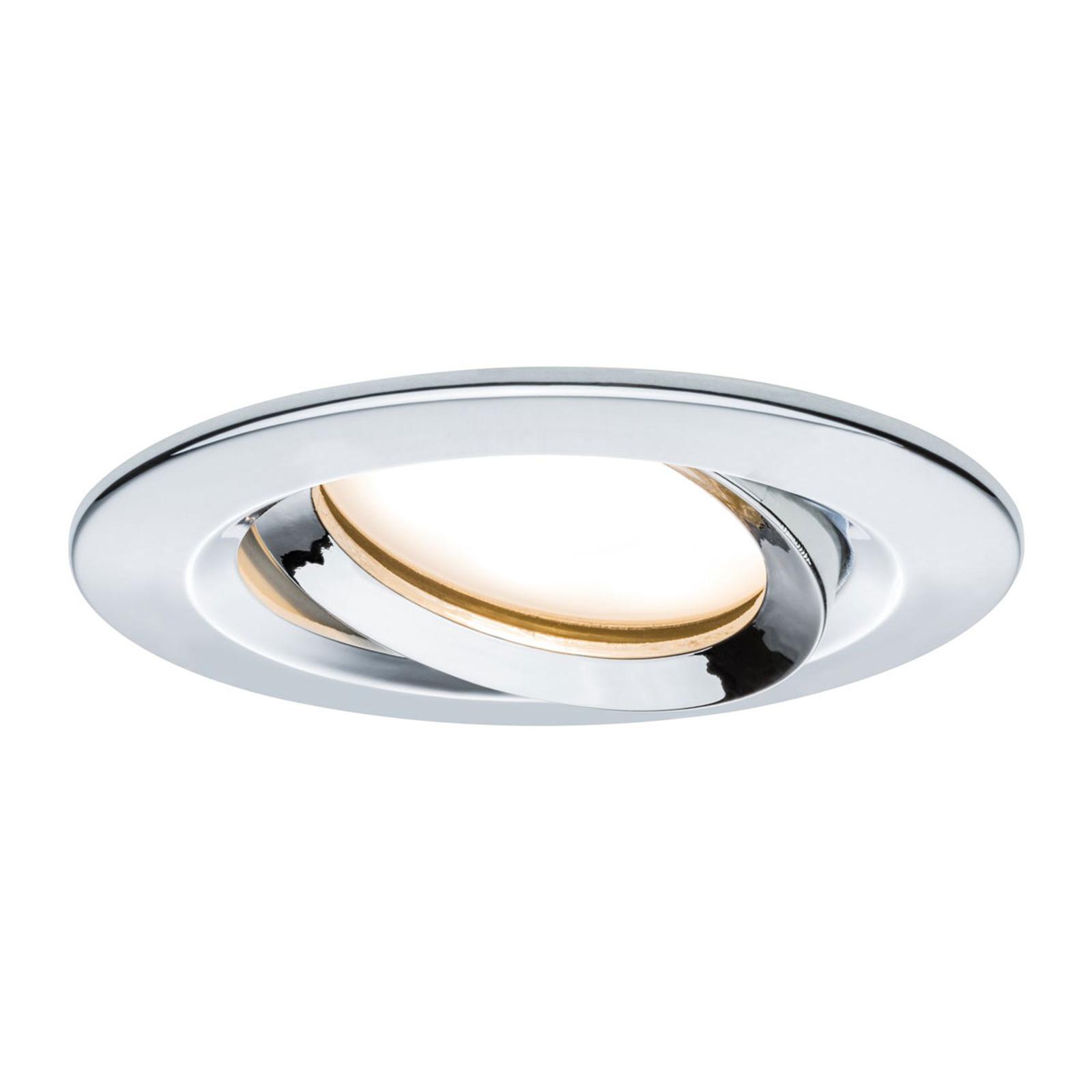 Paulmann Nova Plus LED-spot rund krom