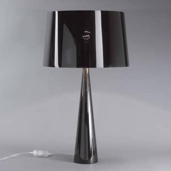 Lampada da tavolo Totem LT, base di metallo lucido