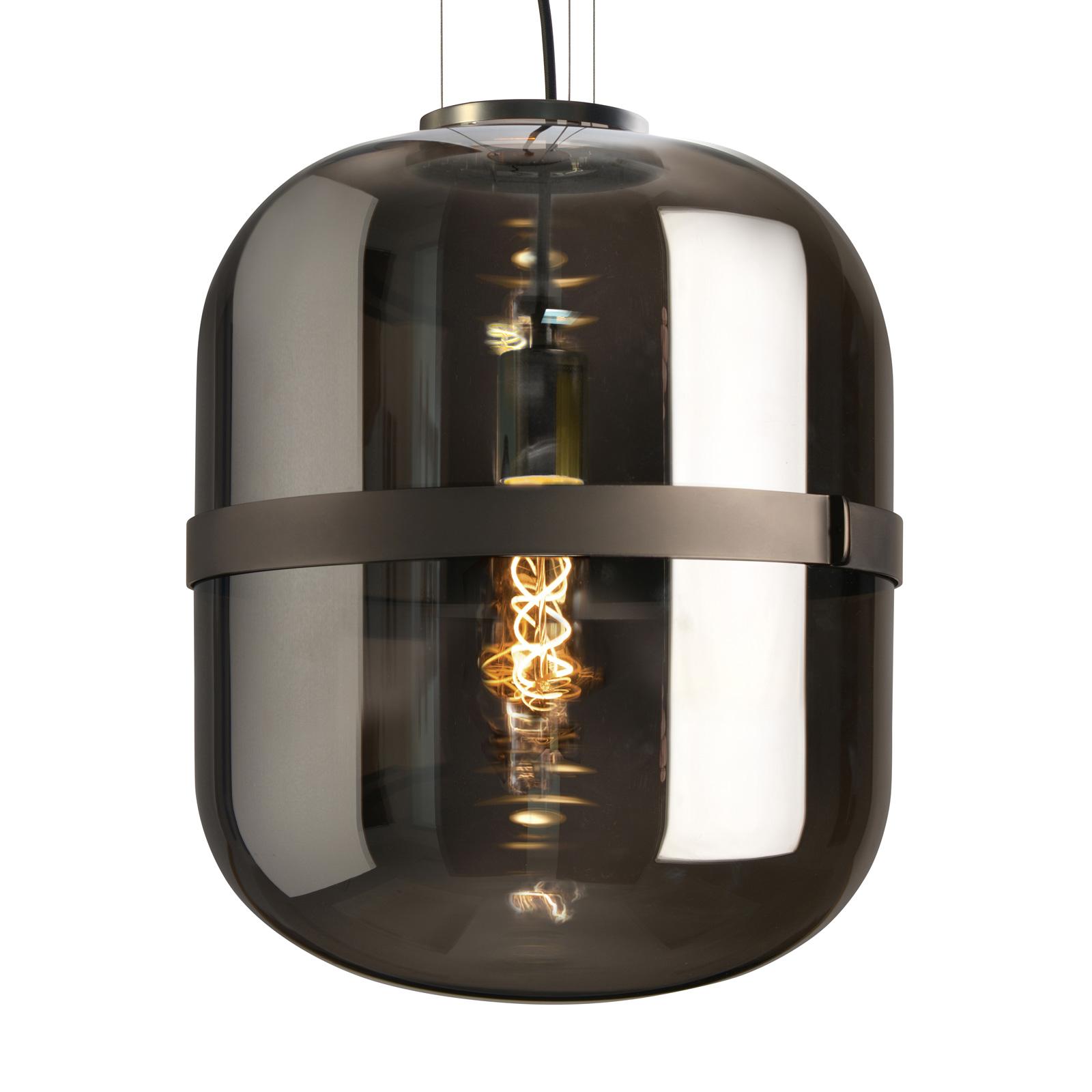 Lampa wisząca Baloni, dymione szkło