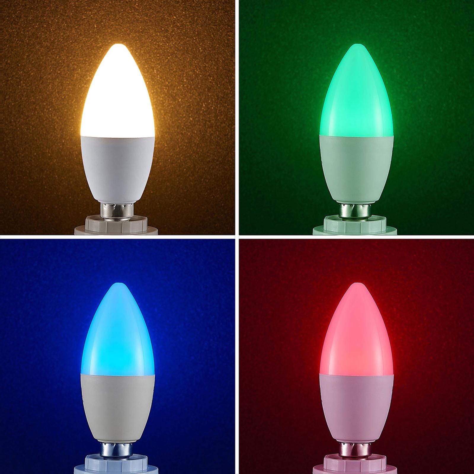 Lindby Smart LED-Lampe WiFi E14 4,5 W, RGB Kerze