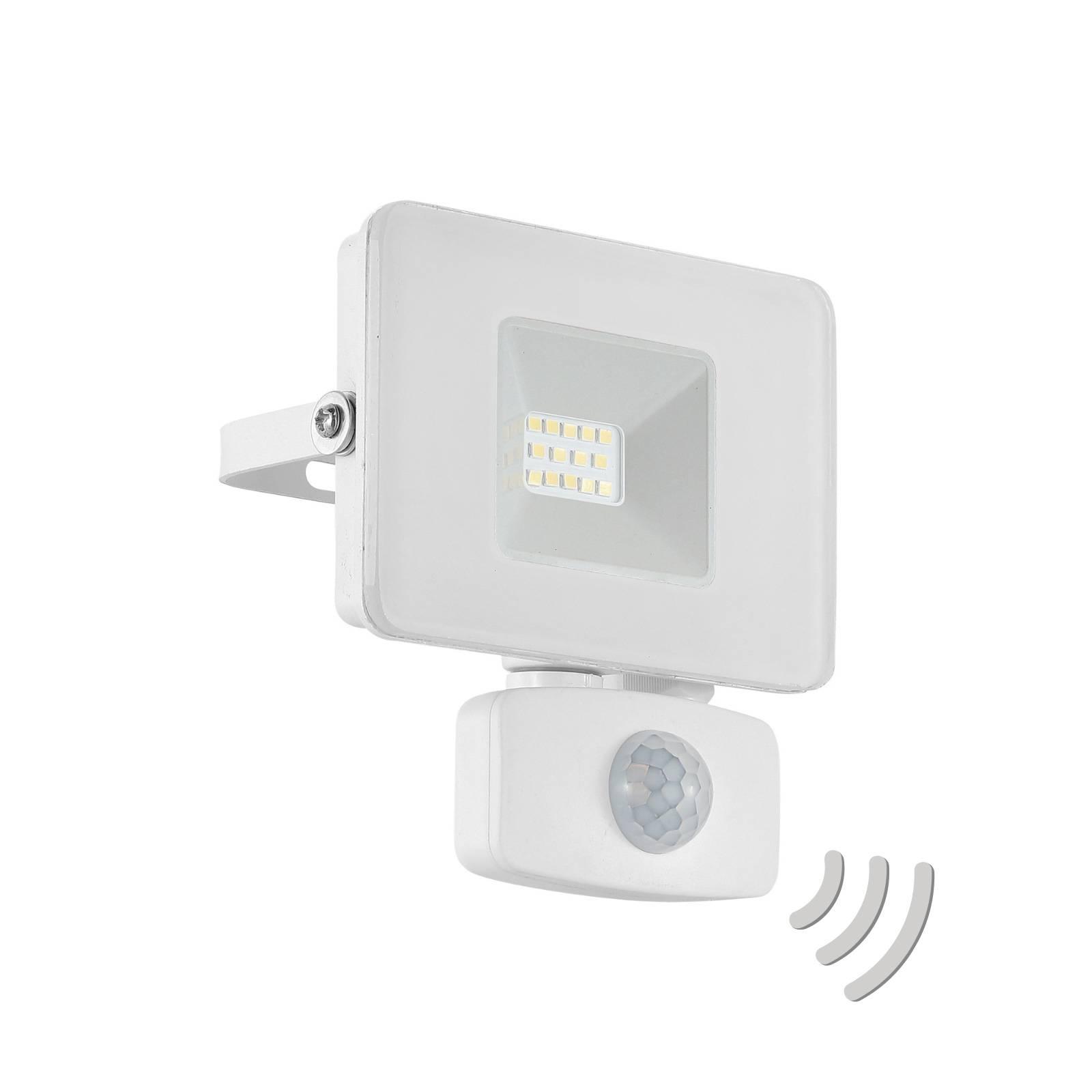 LED buitenspot Faedo 3 met sensor, wit, 10W