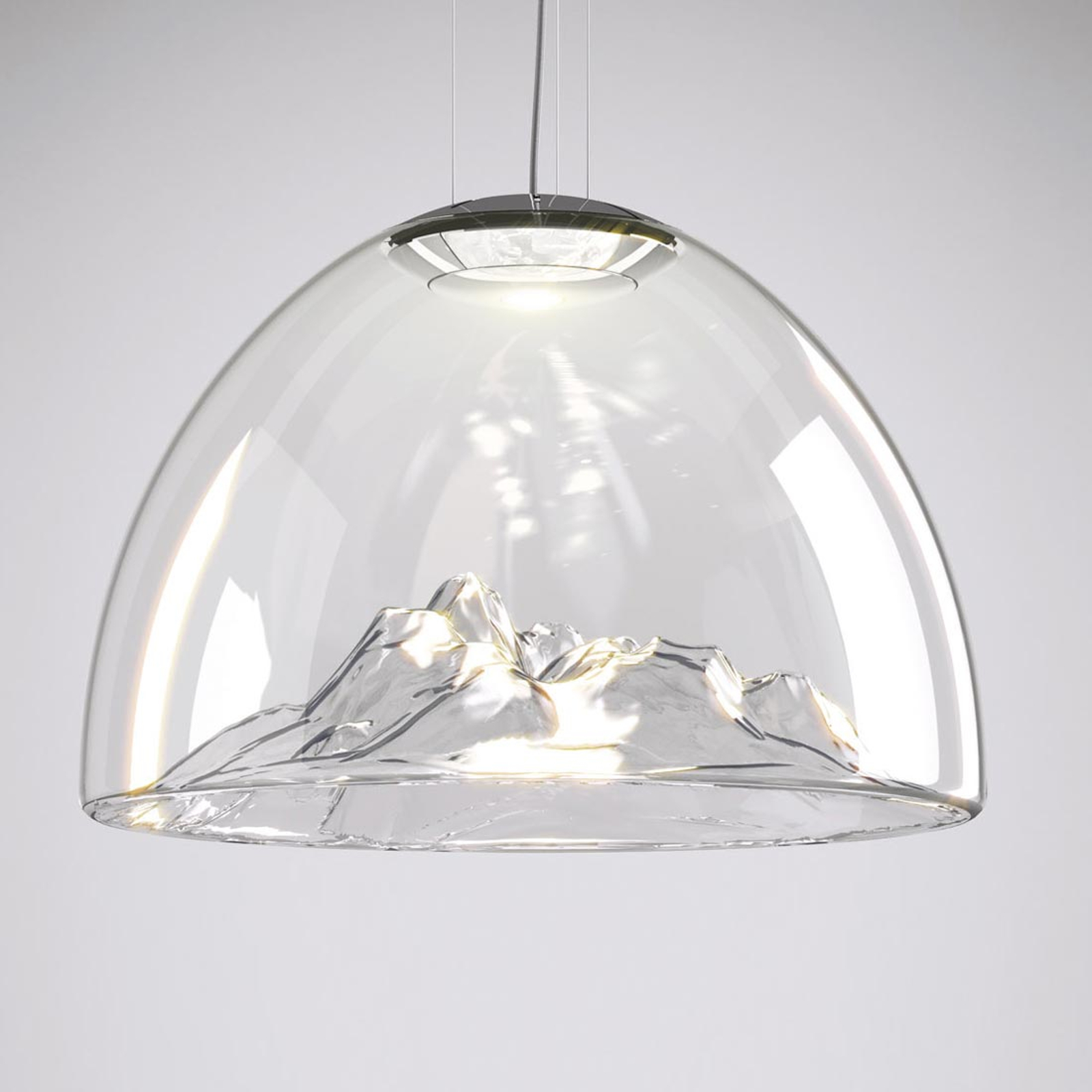Axolight Mountain View - LED-Hängelampe klar-chrom