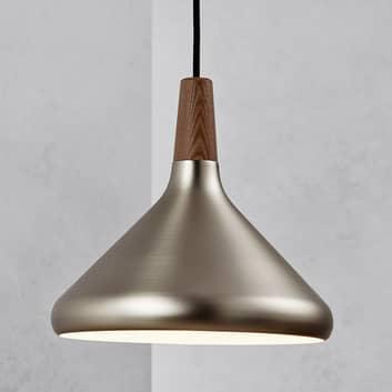 Hanglamp Float in geborsteld staal, 27 cm