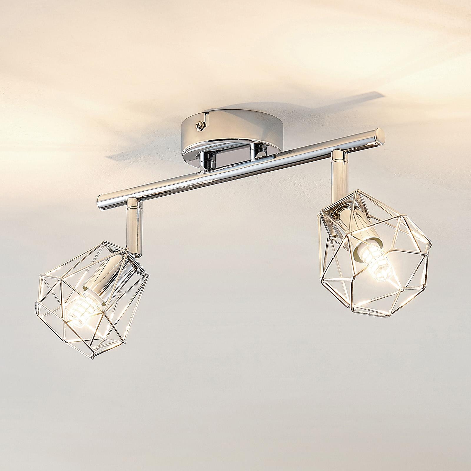 Lindby Giada LED ceiling spotlight, two-bulb_9950730_1