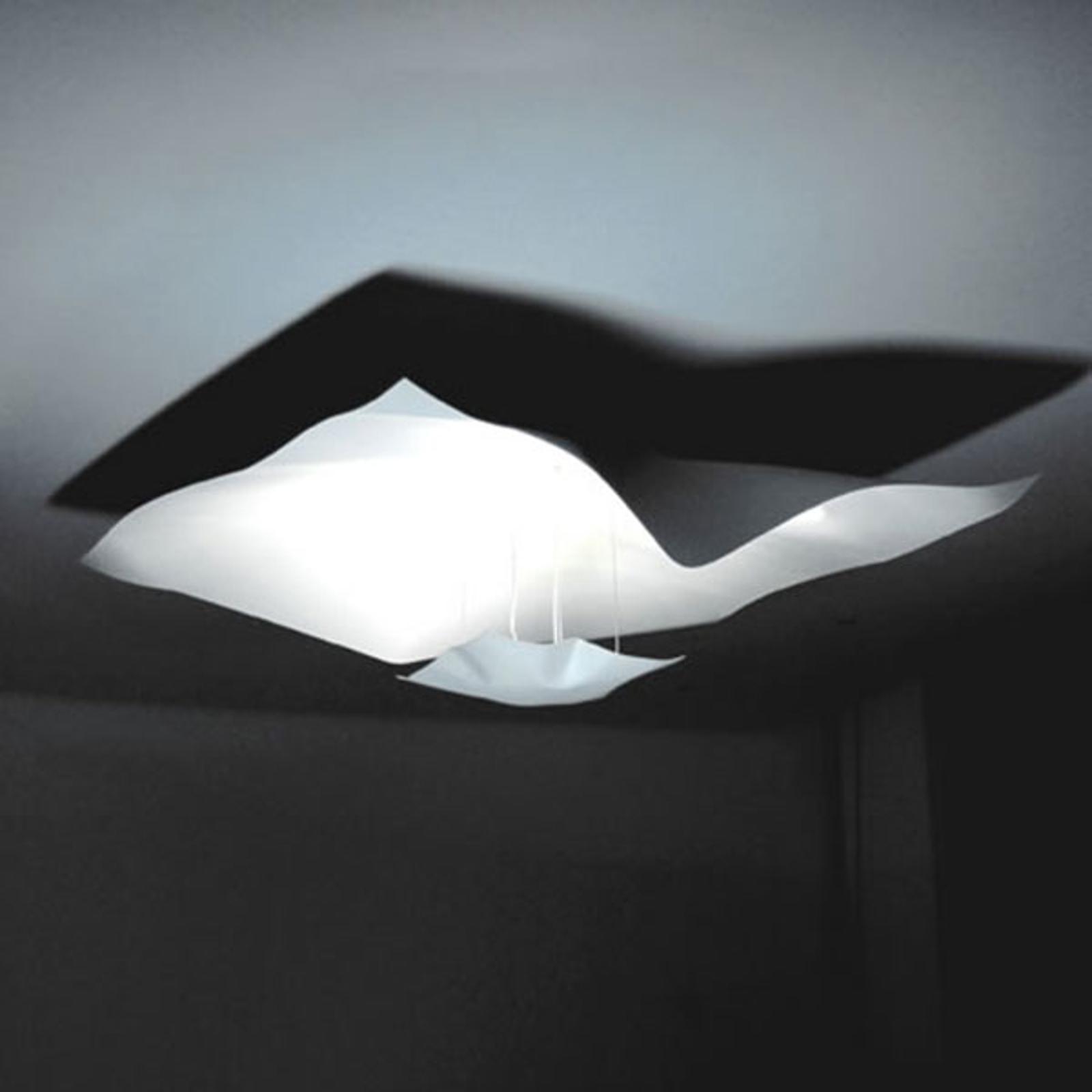 Imponująca lampa wisząca LED Crash, biała