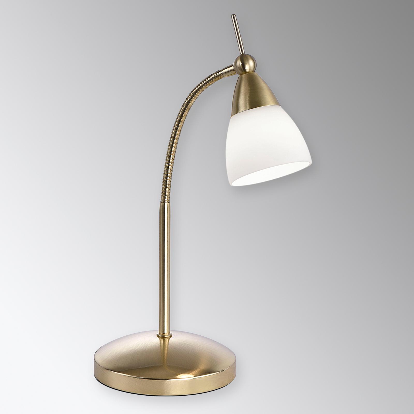 Messingkleurige LED tafellamp Pino met dimmer