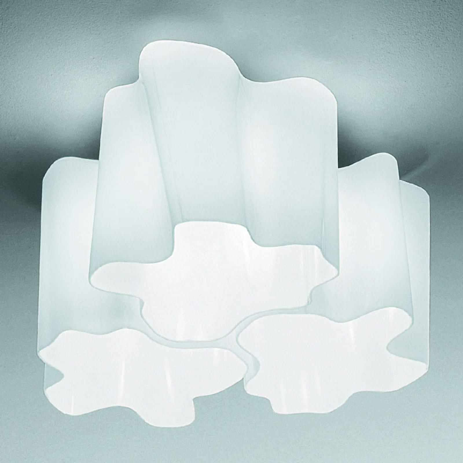Artemide Logico plafoniera 3 luci 120° 45x45 cm