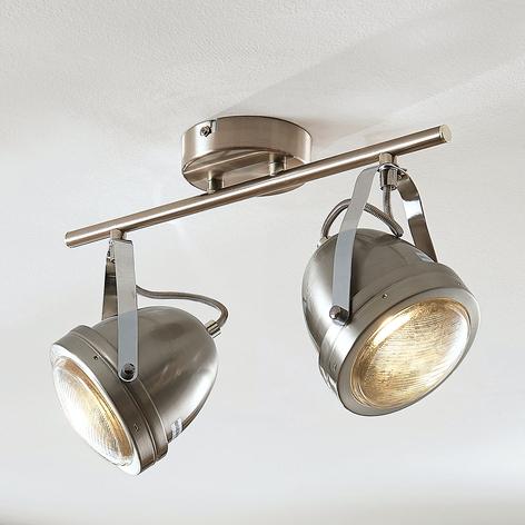 Plafondspot Zoja, met twee lampjes