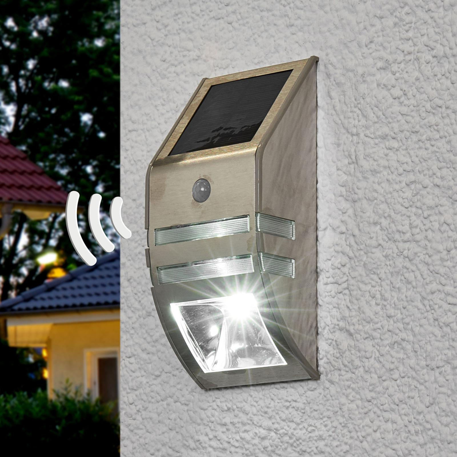 Soldriven LED-vägglampa Sol WL-2007, rörelsesensor