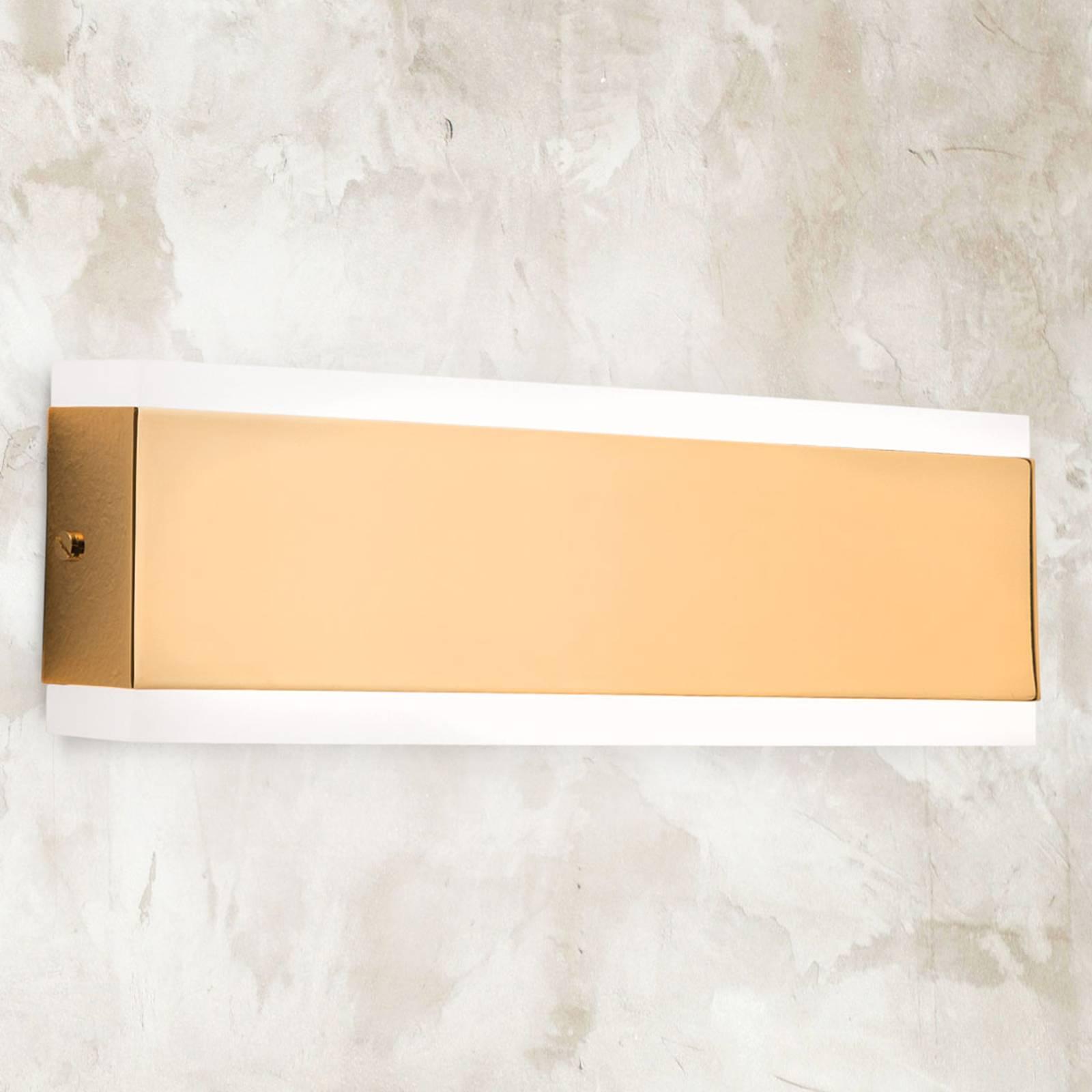 Garik - LED wandlamp met gouden lichaam