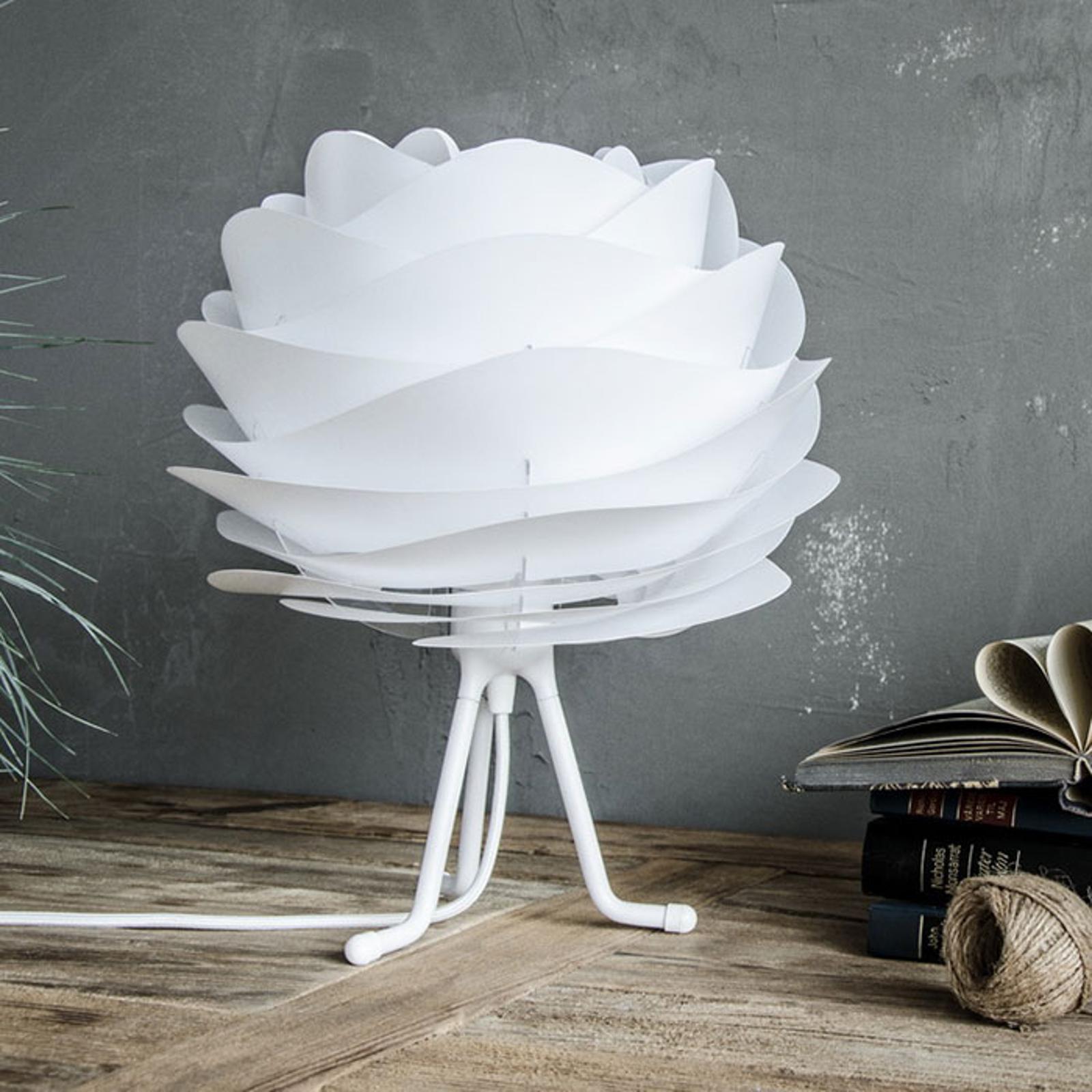 UMAGE Carmina Mini bordlampe hvid, hvid trefod