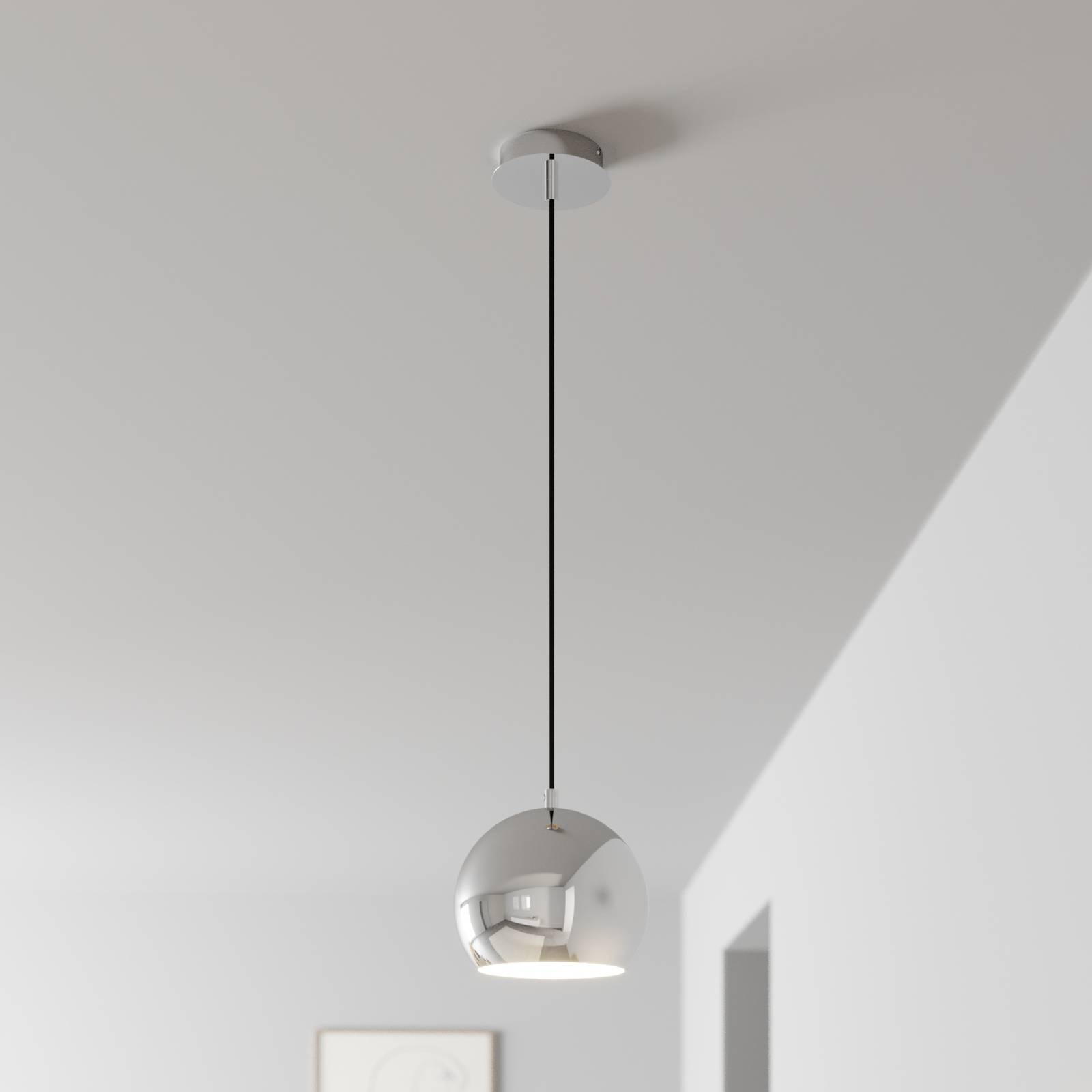 Lampa wisząca Cool, 1-punktowa, chrom
