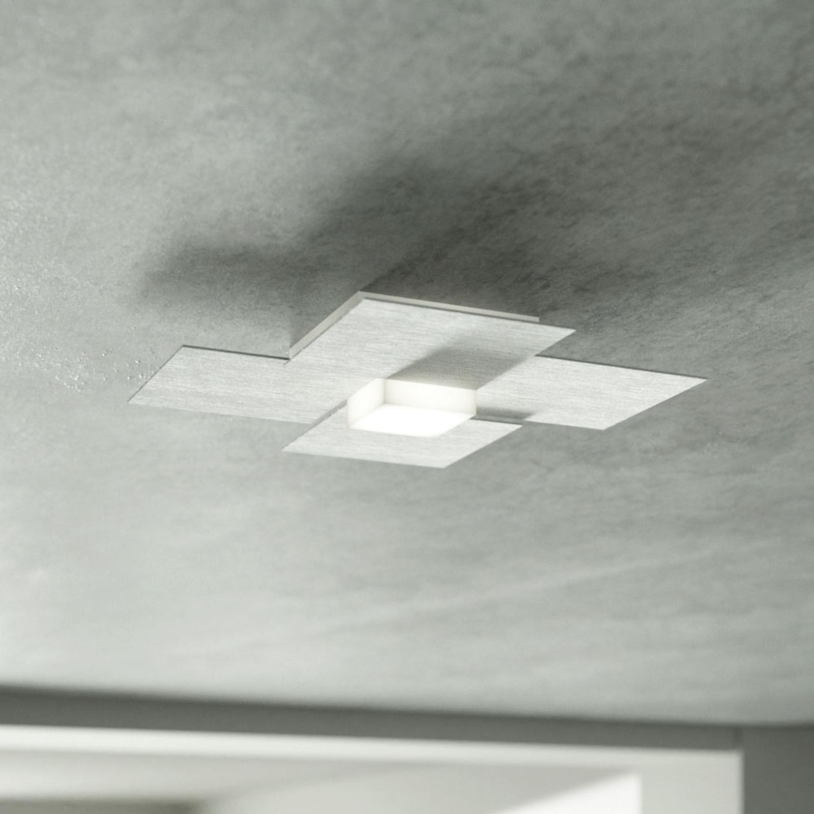 GROSSMANN Creo LED-taklampe, børstet aluminium