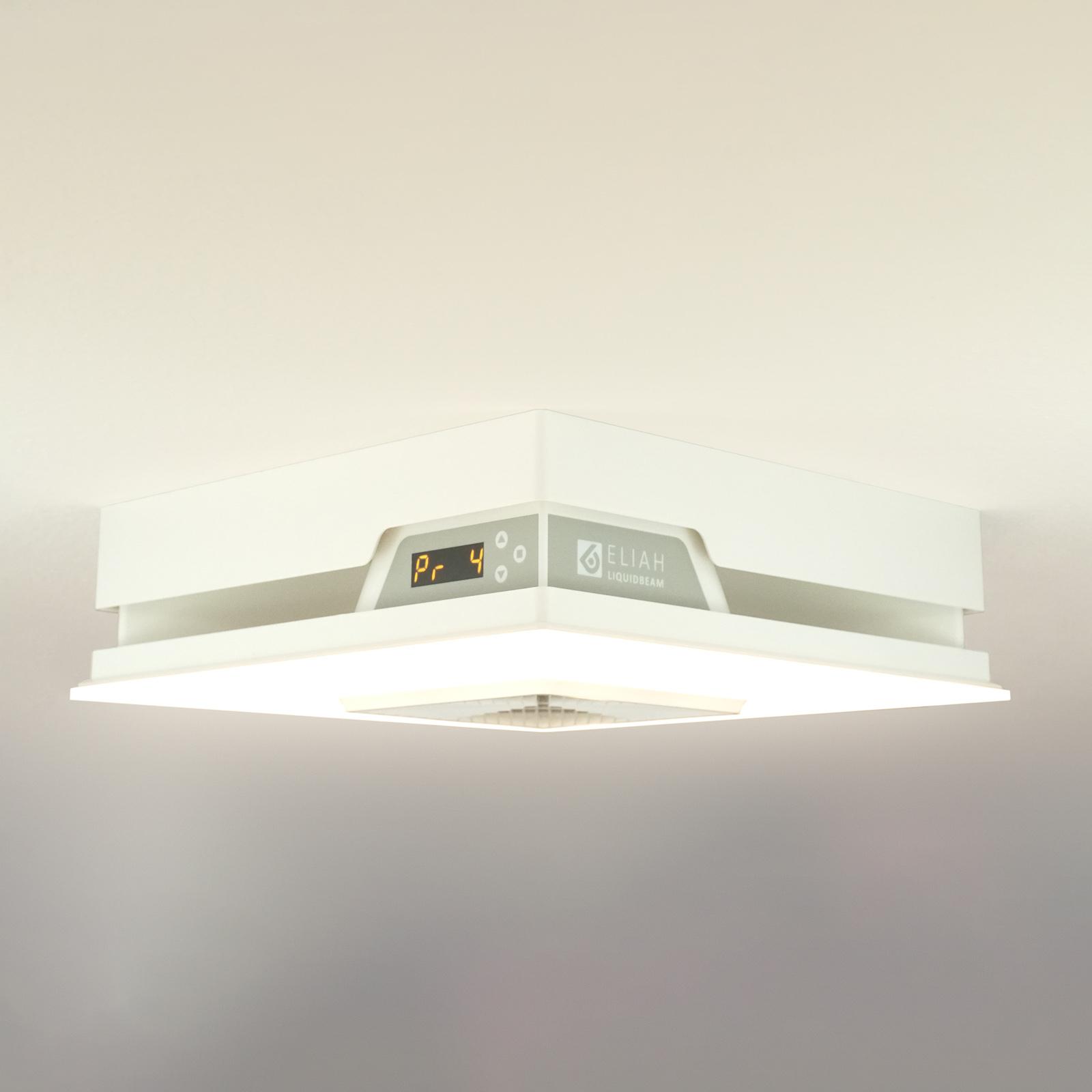 LED-Deckenleuchte Eliah mit eingebauter Heizung