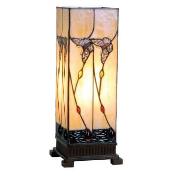 Jantarová stolní lampa Amberly 45 cm