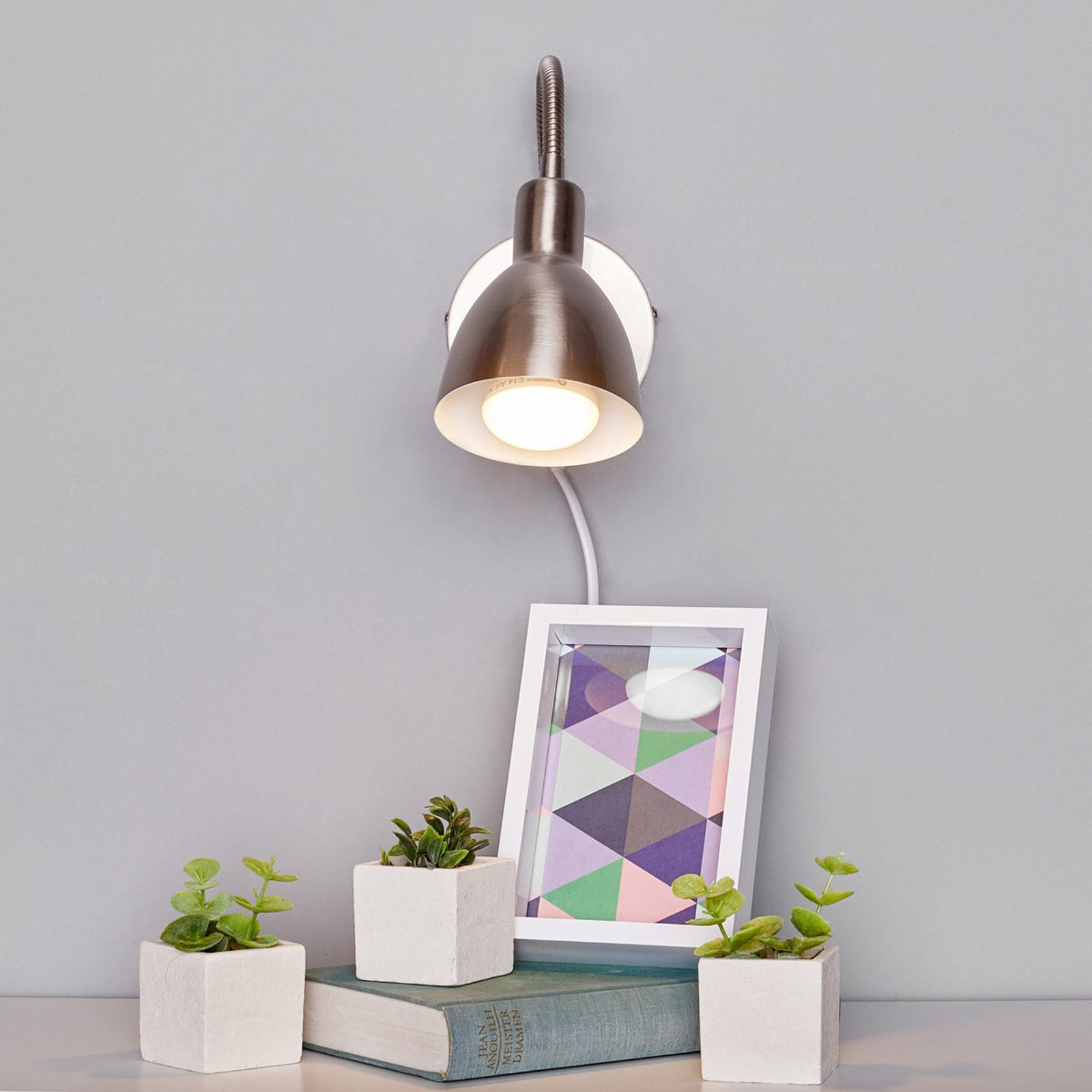 Amrei - lampada da parete dimmerabile nichel