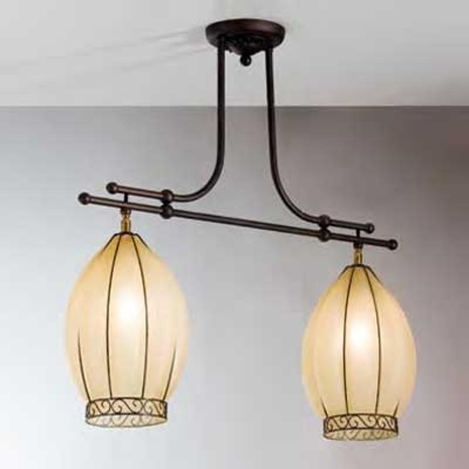 Dwupunktowa lampa wisząca TULIPANO