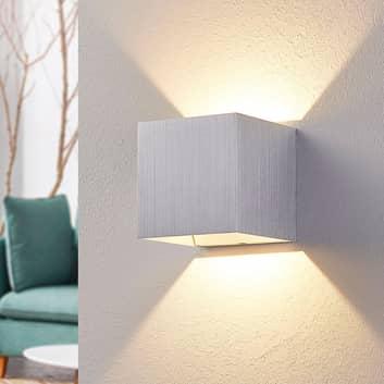 Aluminium-LED-Wandlampe Esma, eckig