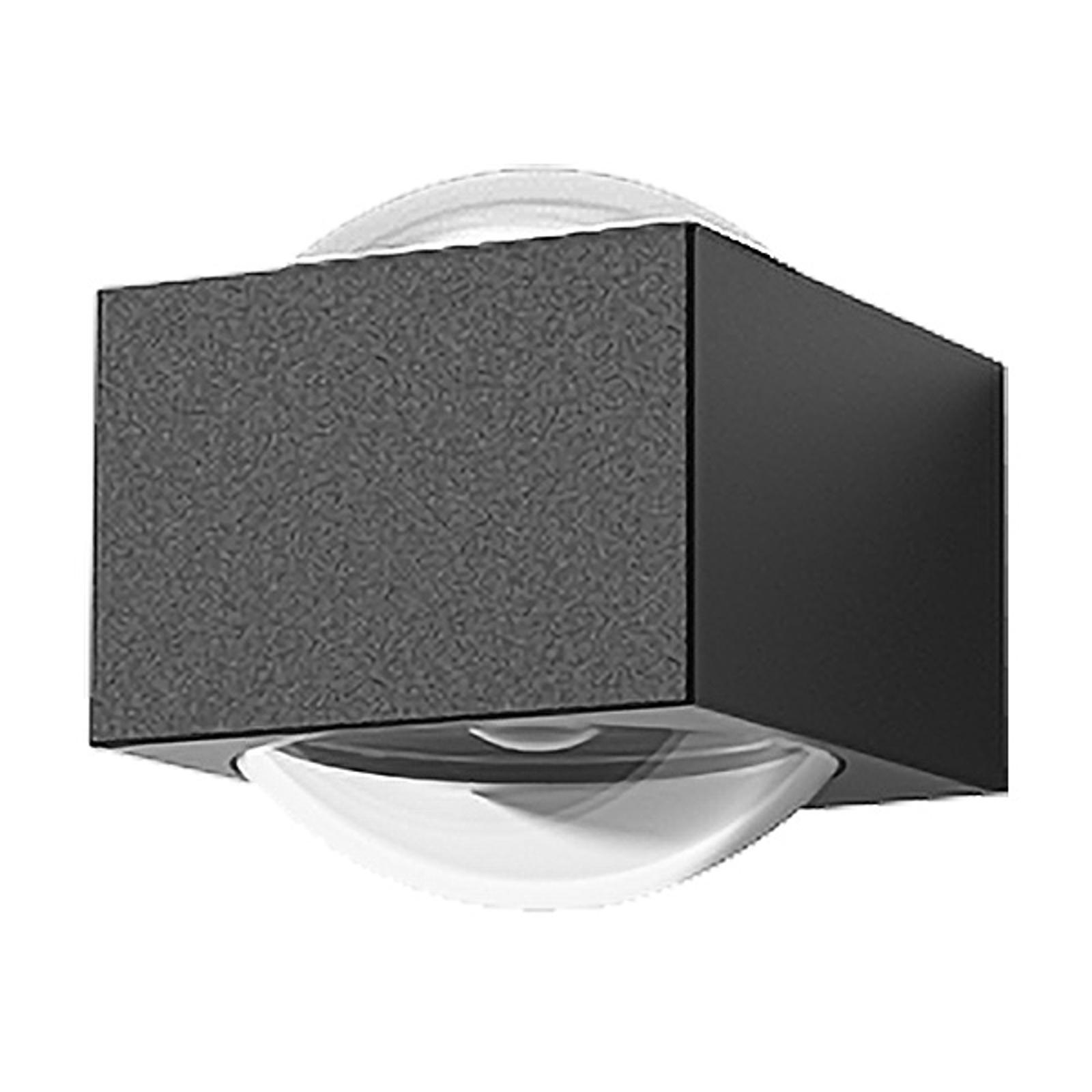 Lucande Almos utendørs LED-vegglampe, kantet 2 lys