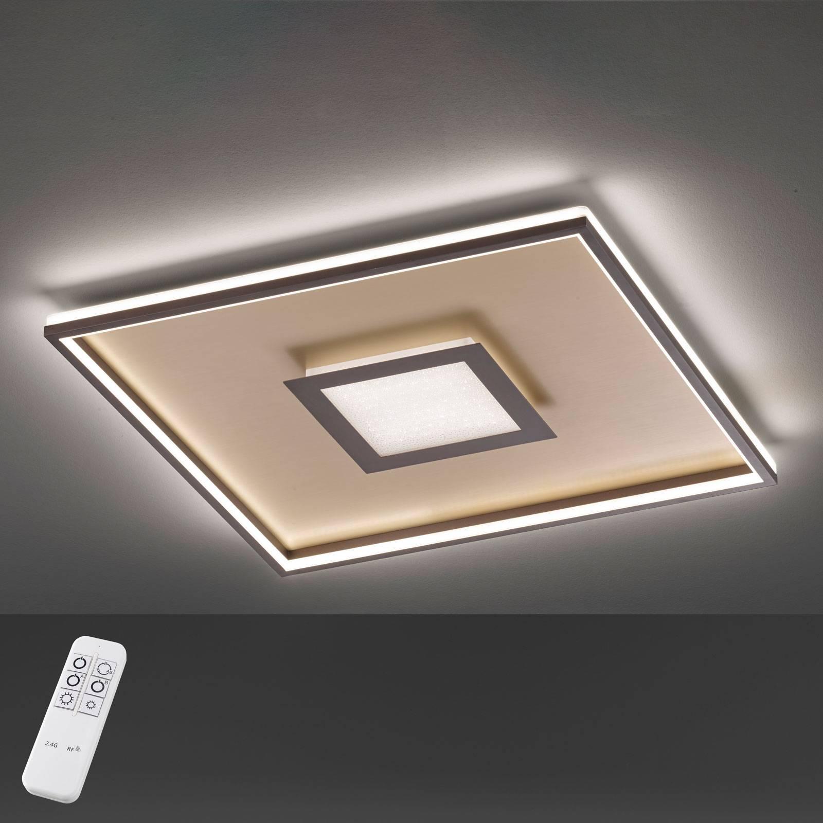 Lampa sufitowa LED Bug kwadratowa, rdza 40x40cm