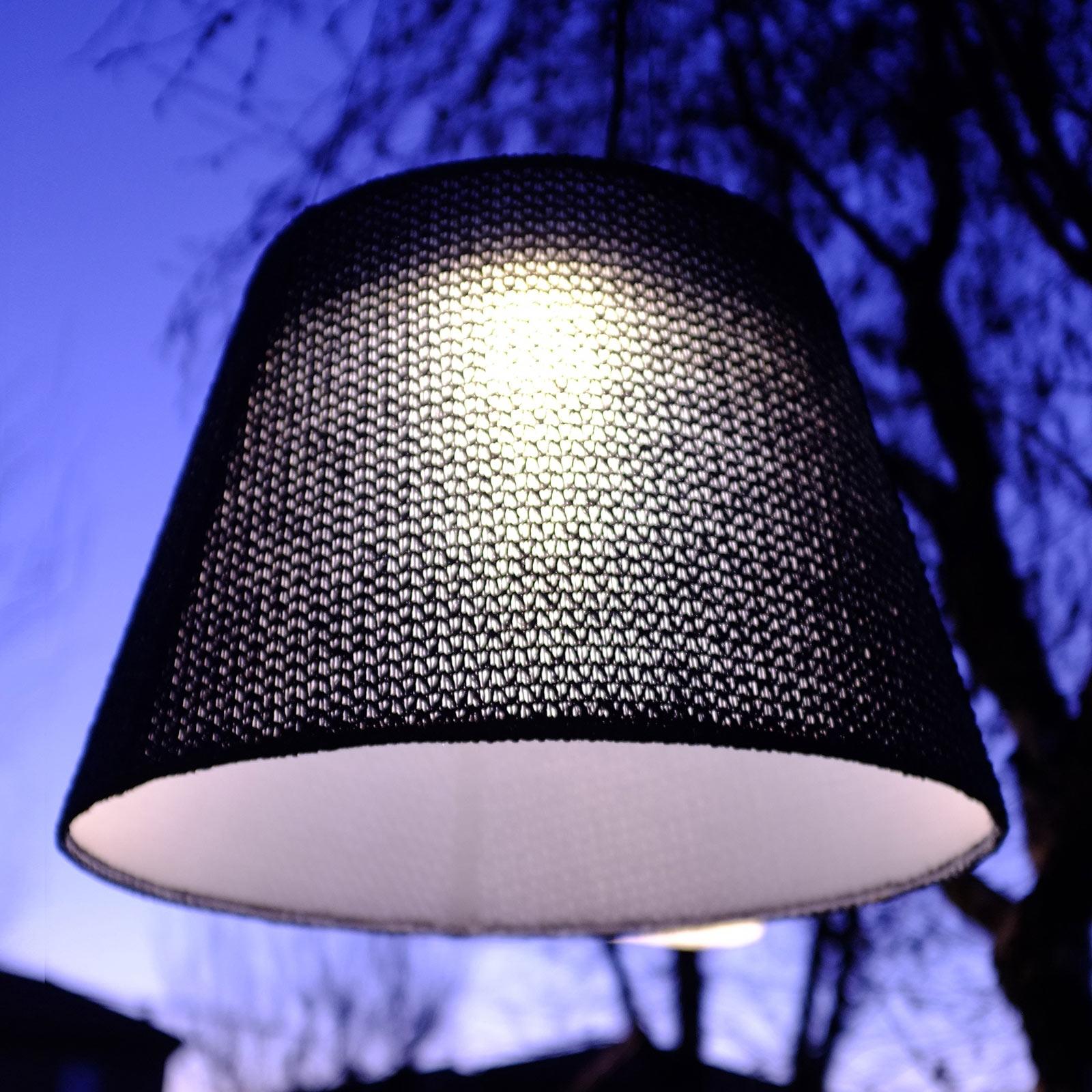 Artemide Tolomeo suspension d'extérieur LED, noire