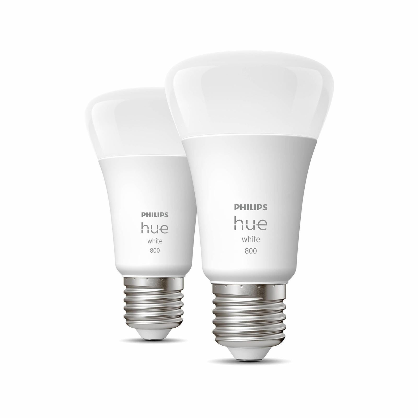 Philips Hue White 9W E27 ampoule LED, lot de 2