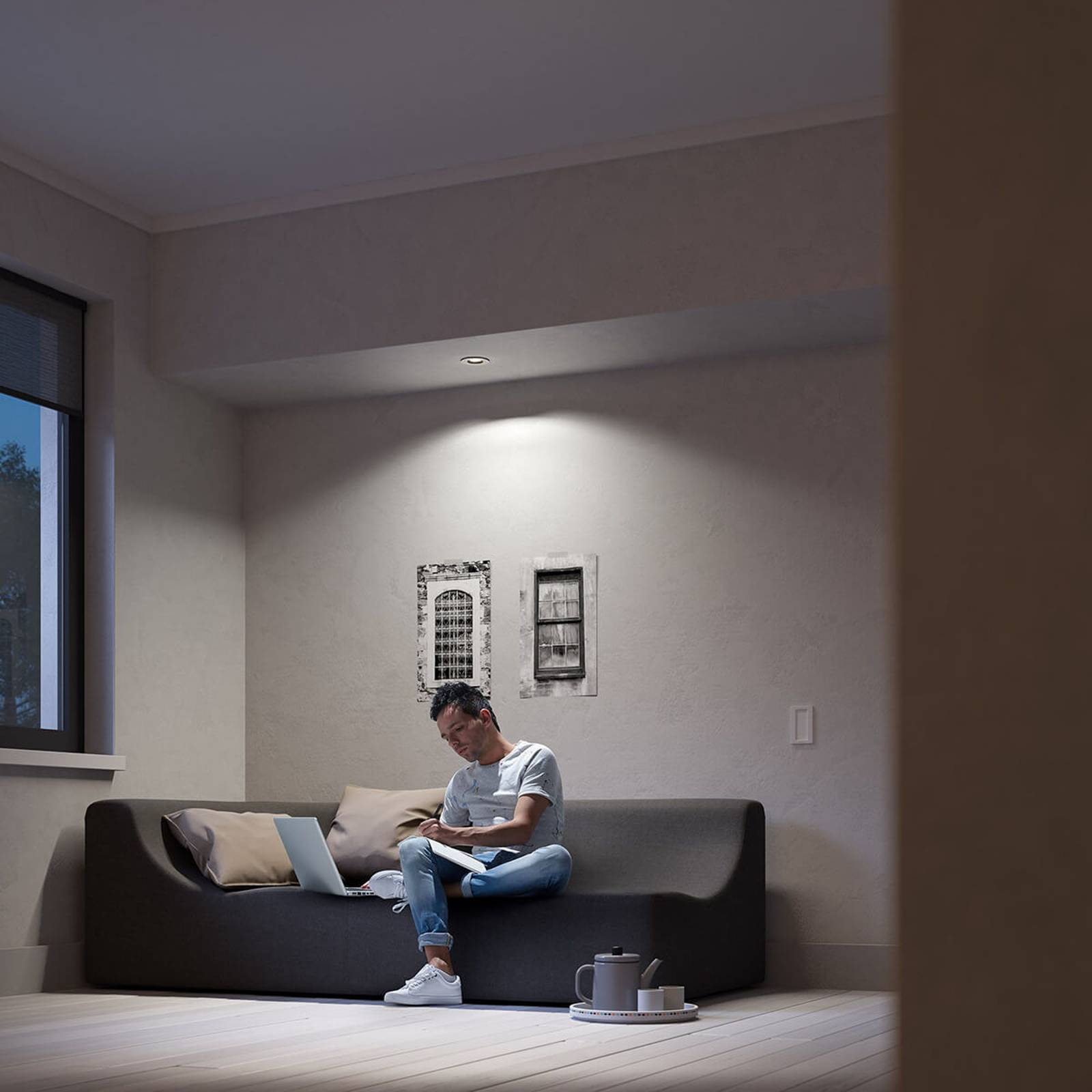 Philips Hue Milliskin LED inbouwspot rond, alu