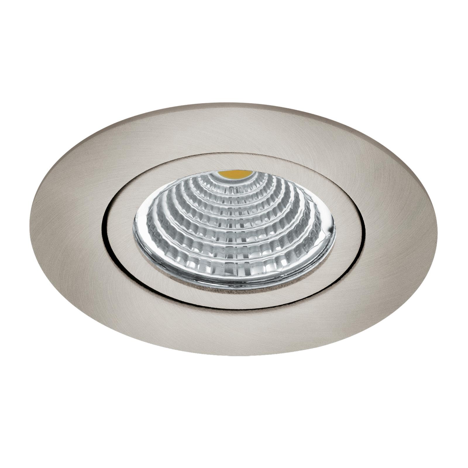 LED spot Saliceto rond draaibaar 4.000K nikkel
