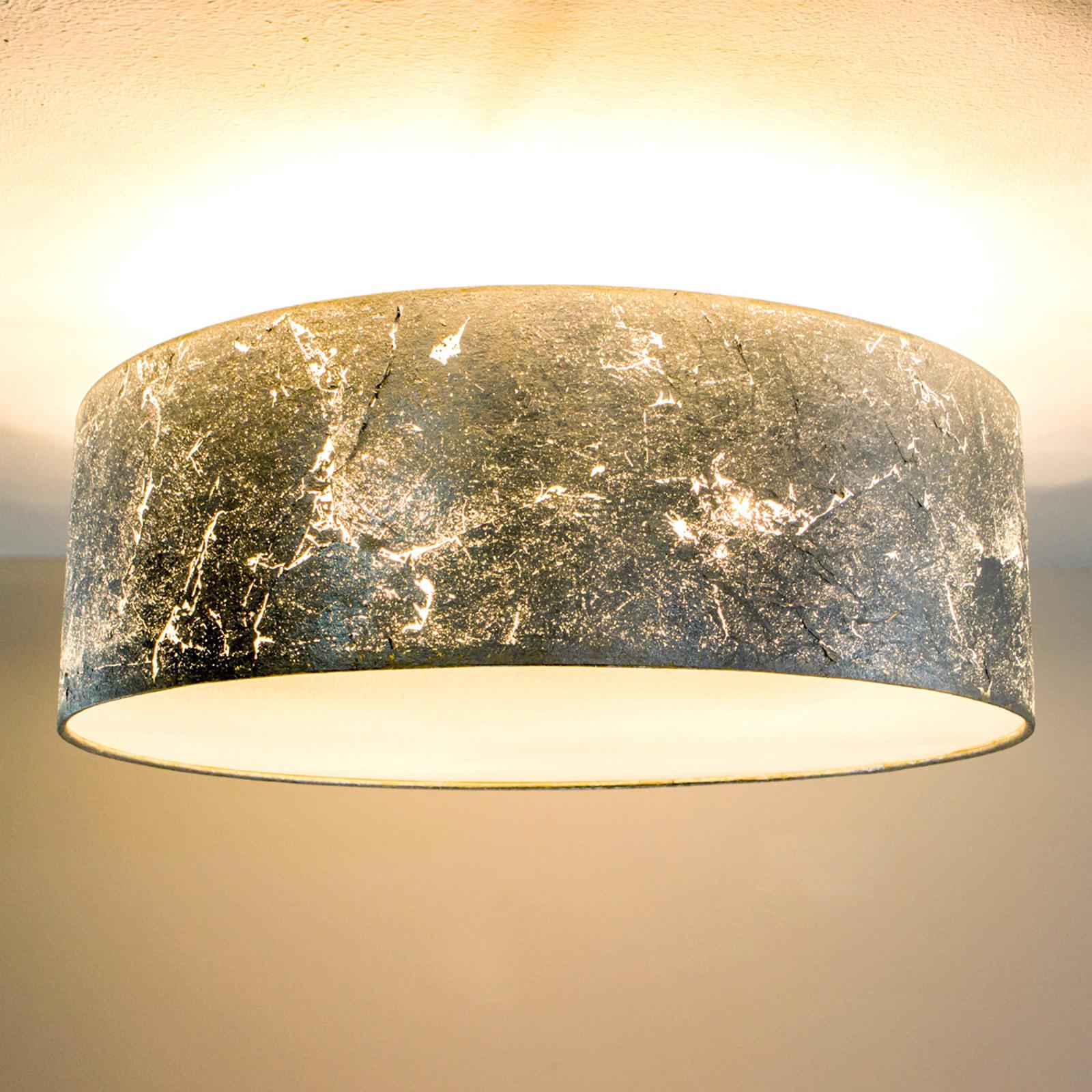 Deckenlampe Aura, belegt m. silbernem Schlagmetall
