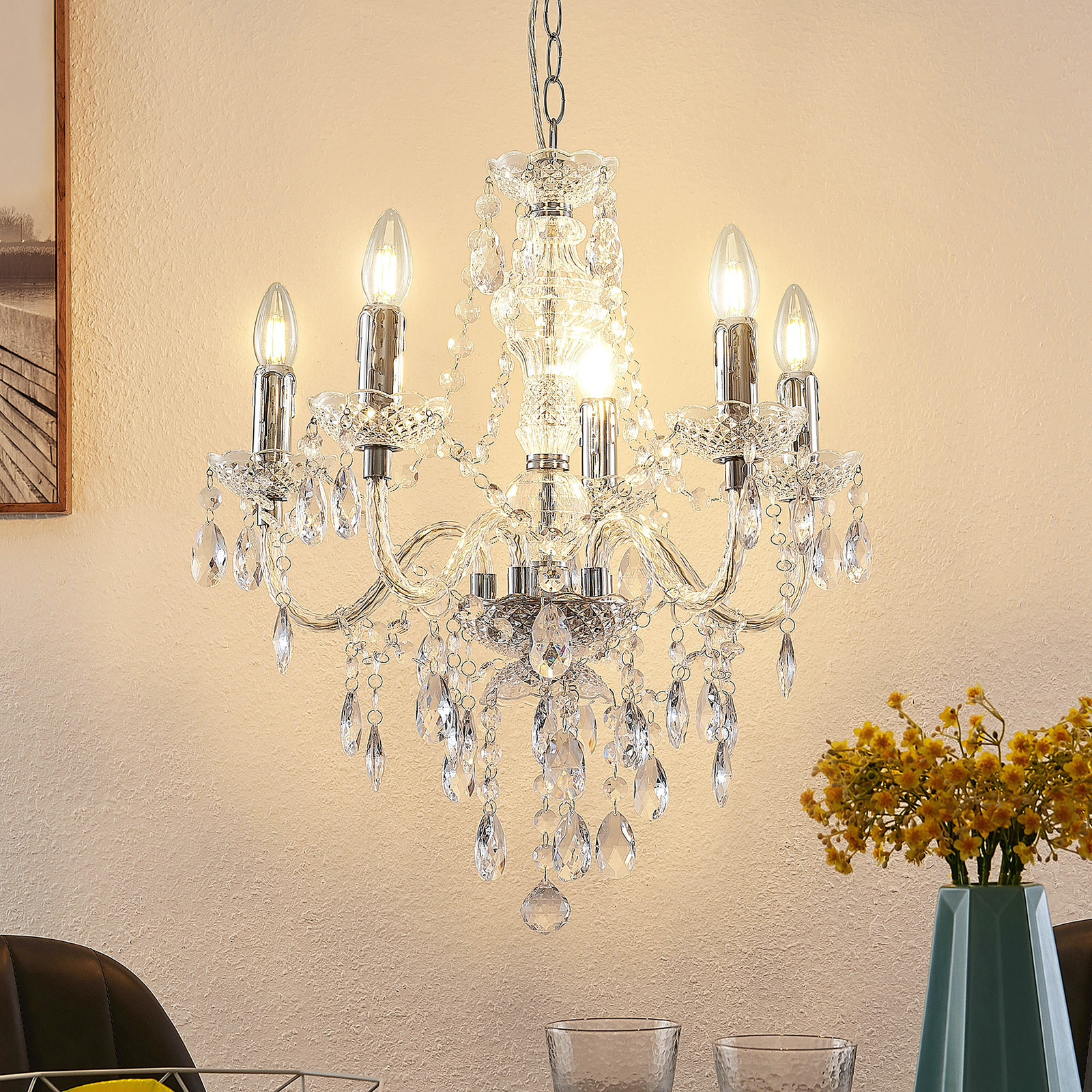 Lindby Hostina lustr, 5žárovkový