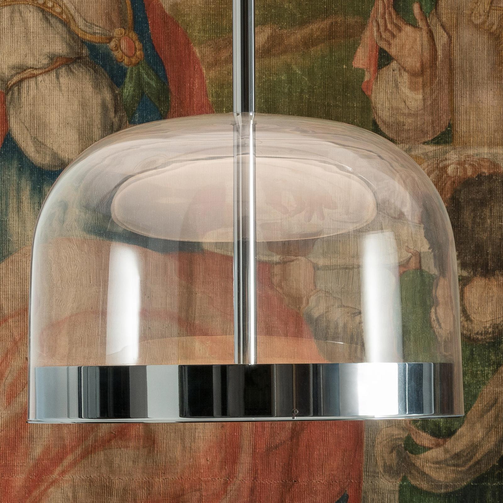 Miedziana lampa wisząca LED Equatore, 23,8 cm