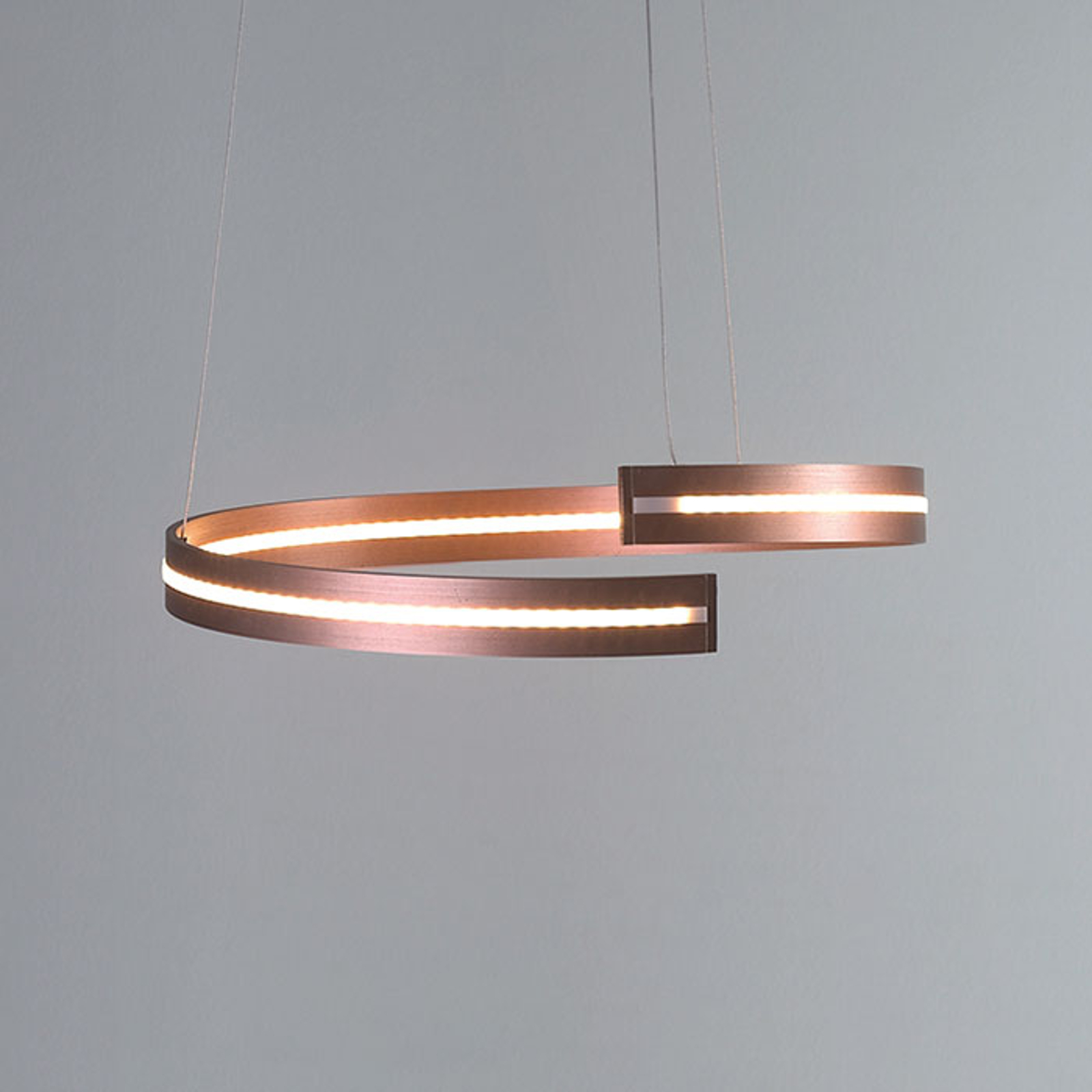 Bopp Break - LED hanglamp, 40 cm roségoud