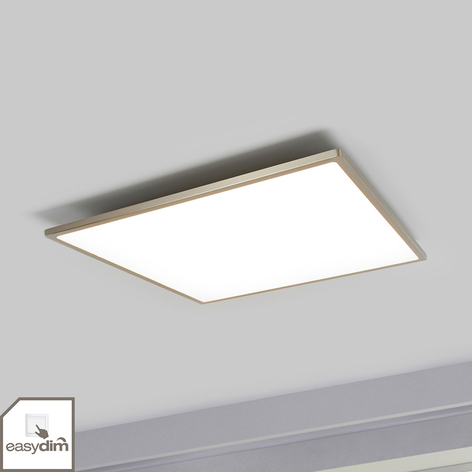 LED-Deckenleuchte Ceres, easydim, nickel, 45x45cm