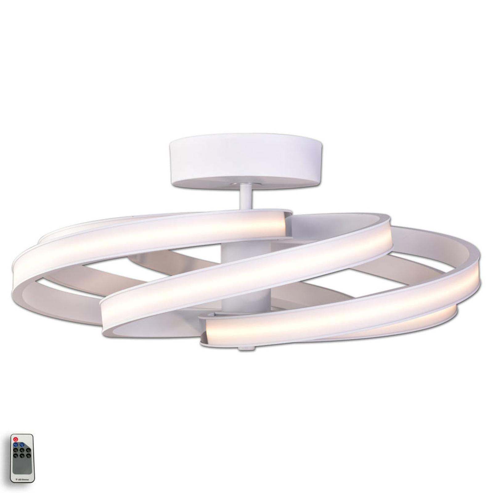 Zoya – moderne LED-taklampe, hvit