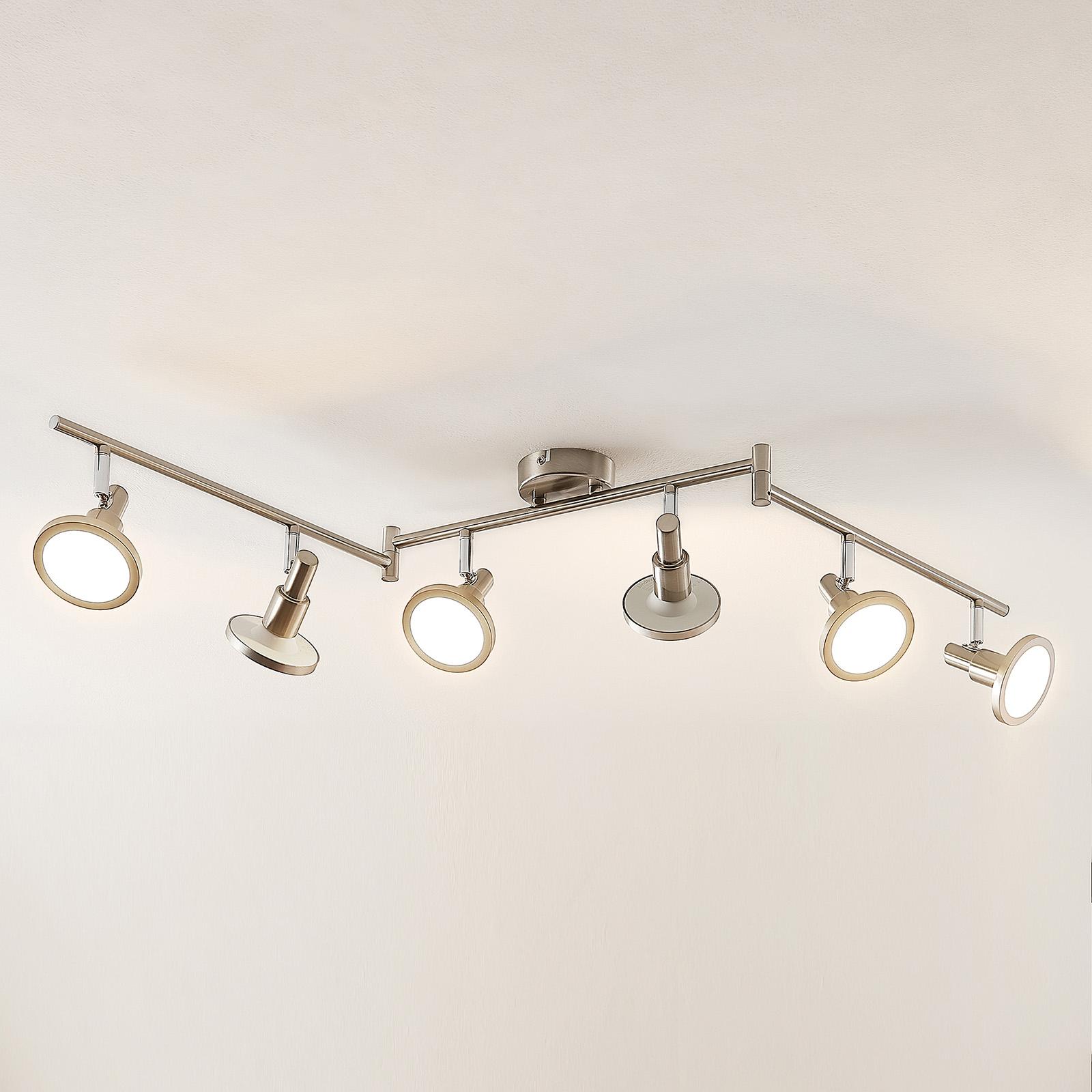 Lindby Unnur spot LED à 6 lampes