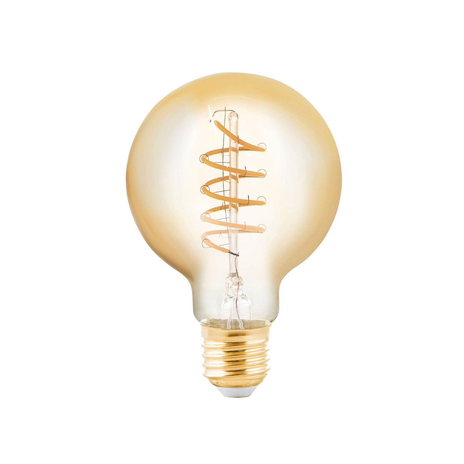 EGLO LED žárovka Globe E27 4W jantarová Ø 8 cm