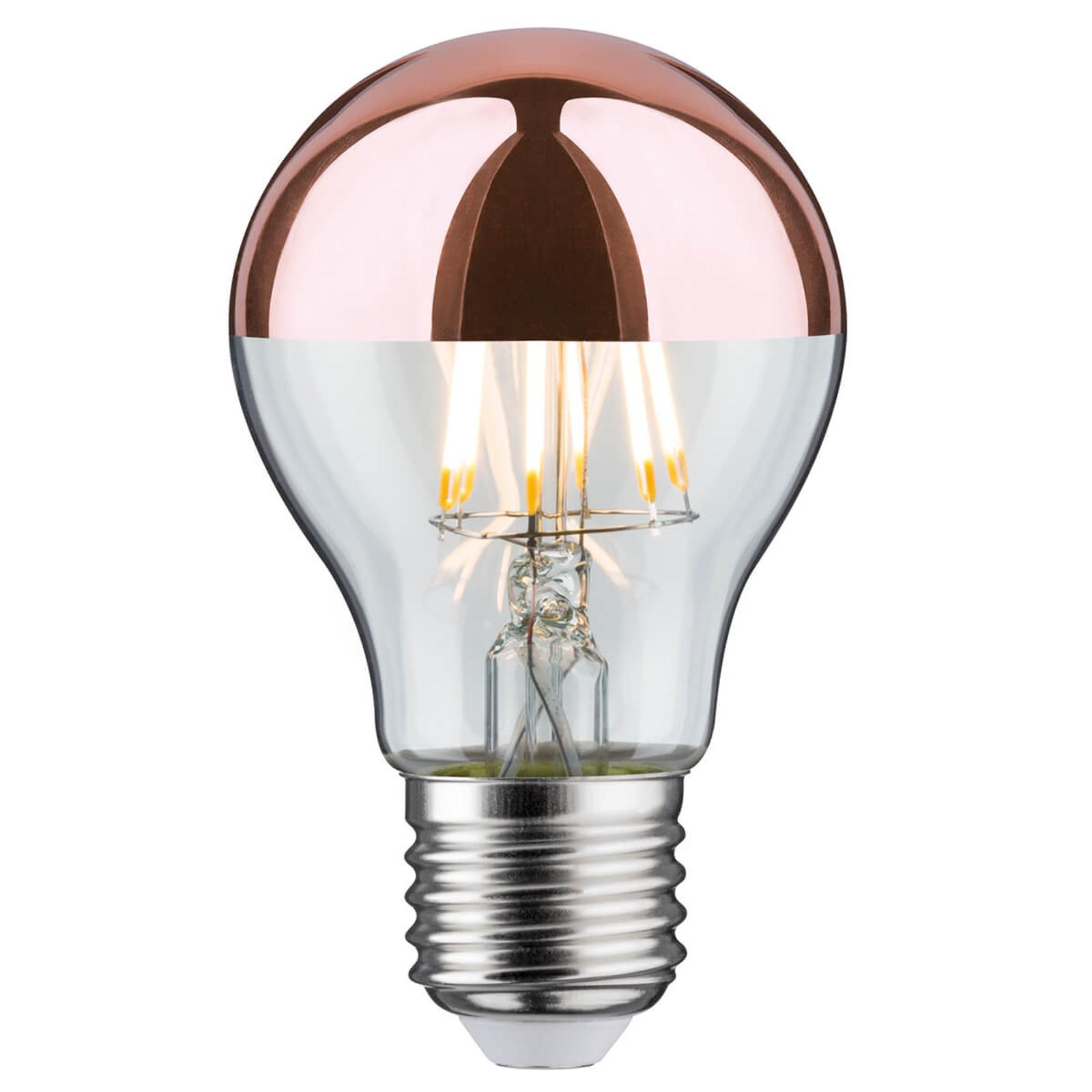 Paulmann LED-Kopfspiegellampe E27 6,5W 827 kupfer