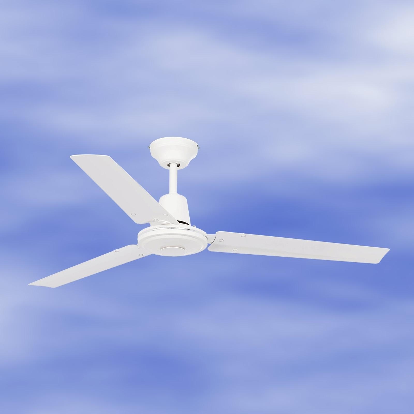 Rechtlijnige witte plafondventilator ECO INDUS
