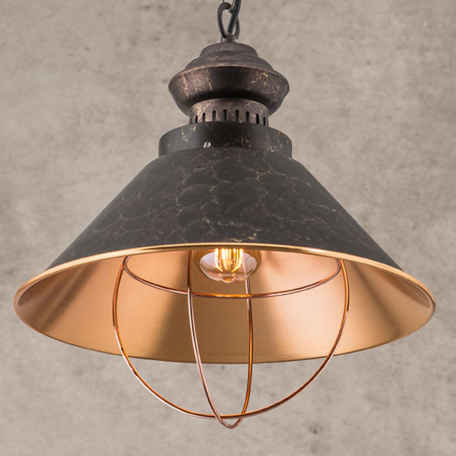 Suspension rustique Shanta, à une lampe