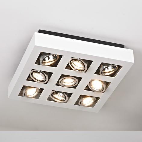 Helder stralende LED-plafondlamp Vince, 9-lamps