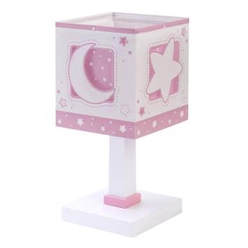 Lampa stołowa dziecięca Moonlight, różowa