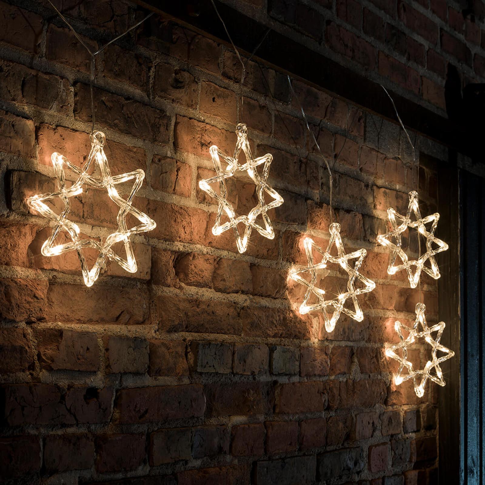 Ghirlanda luminosa LED natalizia, stelle a 8 punte