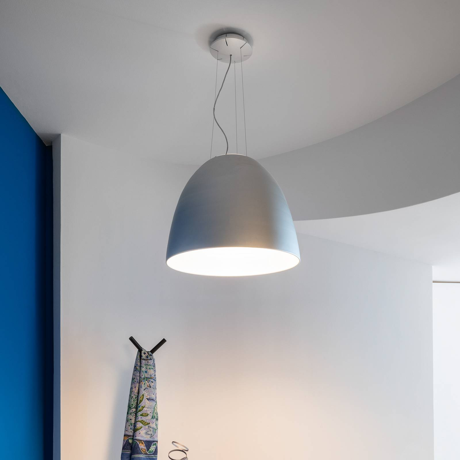 Artemide Nur App LED-Hängeleuchte metallgrau